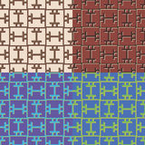Set geometrische nahtlose Muster Stockbilder
