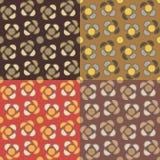 Set geometrische nahtlose Muster Stockfoto