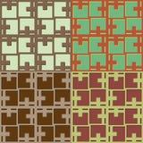 Set geometrische nahtlose Muster Lizenzfreie Stockbilder