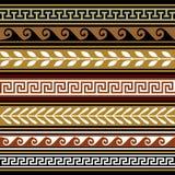Set geometrische vektorränder Stockbilder