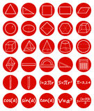 Set of geometry icons. Science, basic education. Flat style. Vector illustration Stock Photo