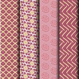 Set geometry pink Seamless pattern. Can be used endlessly Stock Photo