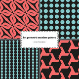 Set geometry seamless pattern Royalty Free Stock Images