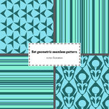 Set geometry seamless pattern Royalty Free Stock Photo