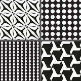Set geometry seamless pattern. Vector illustration/ EPS 8 Royalty Free Stock Images