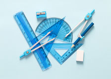 Set of geometry tool Royalty Free Stock Photos