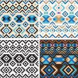Set of geometry tribal seamless patterns Stock Photography