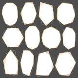 Set geometryczna złoto rama, Dekoracyjny element dla ślubnej karty, zaproszenia i logo, ilustracja wektor