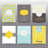 Set Geometryczne broszurki i karty Obrazy Royalty Free