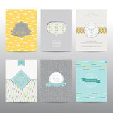 Set Geometryczne broszurki i karty Obraz Royalty Free