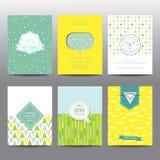 Set Geometryczne broszurki i karty Zdjęcie Royalty Free