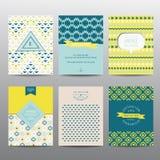 Set Geometryczne broszurki i karty Zdjęcie Stock