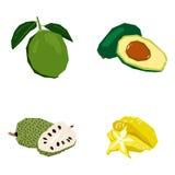 Set geometryczne owoc Zdjęcie Stock