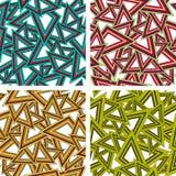 Set geometryczni bezszwowi wzory Obrazy Royalty Free