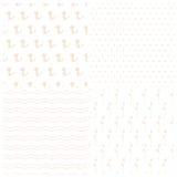 Set geometryczni i kwieciści wektorowi bezszwowi wzory Zdjęcie Royalty Free