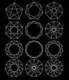Set geometryczni kształty ilustracji