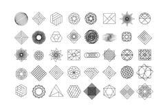 Set geometryczni kształty Modny modnisia tło, logotypy i Religia, filozofia, duchowość, okultyzmów symbole ilustracji