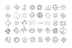 Set geometryczni kształty Modny modnisia tło, logotypy i Religia, filozofia, duchowość, okultyzmów symbole ilustracja wektor