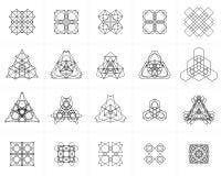 Set geometryczni symbole Zdjęcia Royalty Free