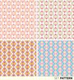 Set geometryczni wzory Obrazy Stock