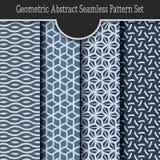Set Geometryczny Abstrakcjonistyczny bezszwowy wzór Zdjęcia Royalty Free