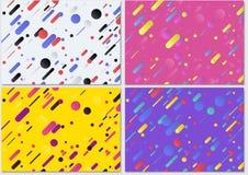 Set Geometryczny tło wzór ilustracja wektor