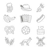 Set of German icons on a white background. Royalty Free Stock Images