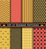 Set of German Independence day patterns Stock Photo