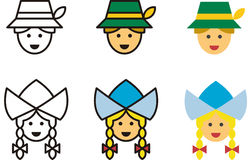 Set of German people icons Stock Images