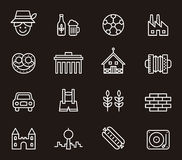 Set of Germany related icons Royalty Free Stock Photos