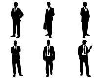 Set Geschäftsleute Schattenbilder Stockbilder