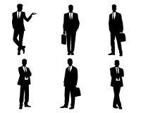 Set Geschäftsleute Schattenbilder Stockfoto