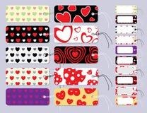 Set Geschenk-Marken gebunden mit Zeichenkette Stockbilder