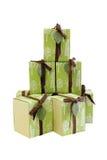 Set Geschenkboxen Lizenzfreies Stockfoto