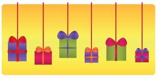 Set Geschenke Stockfotos
