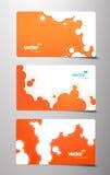 Set Geschenkkarten mit Luftblasenzeichen. Lizenzfreie Stockfotografie
