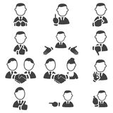 Set of gesture icons Royalty Free Stock Photo