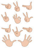 Set of gestures hand Royalty Free Stock Photos