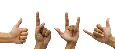 Set of gesturing hands Royalty Free Stock Photography