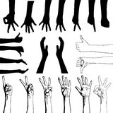 Set of gesturing hands Royalty Free Stock Photo