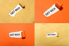 Set Of Get Rich Text Royalty Free Stock Images