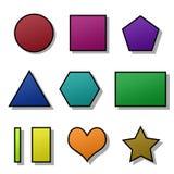 Set getrennte farbige Formen Stockfotos