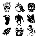 Set of ghost  ghouls and alien icons Royalty Free Stock Photography