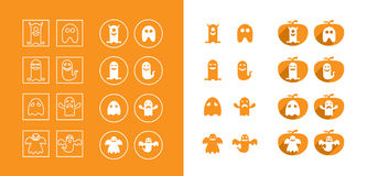 Set of ghost icons Stock Images