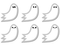 Set of Ghost Stickers Stock Photo