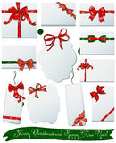Set of gift bows for Christmas and New Year. Stock Photo