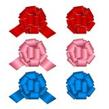 Set of gift bows. Stock Images