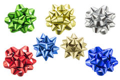 Set of gift bows isolated on white background Royalty Free Stock Photography