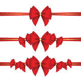 Set of gift bows with ribbon Stock Image