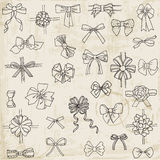 Set of gift Bows with Ribbons Royalty Free Stock Photography